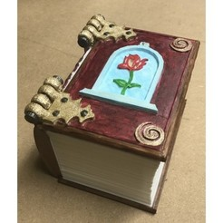 Download free STL file Belle Book Dice Box • 3D print design, mrhers2