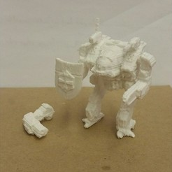 Download free 3D printer designs Modular Linebacker Mech, mrhers2