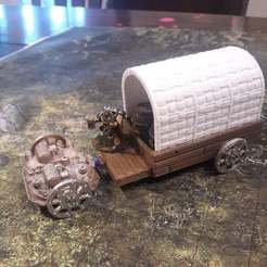 wagon_together_smaller.jpg Download free STL file Steam Powered Wagon • Model to 3D print, mrhers2