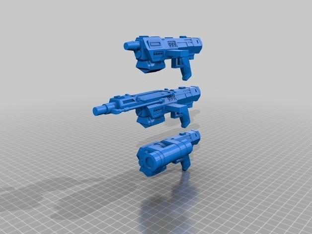 5b232c283563d8ef8ed01a41fa12c75f_preview_featured.jpg Télécharger fichier STL gratuit Commandos Republic Commandos Blasters • Plan pour impression 3D, mrhers2
