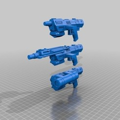 Free 3d printer designs Republic Commandos Blasters, mrhers2