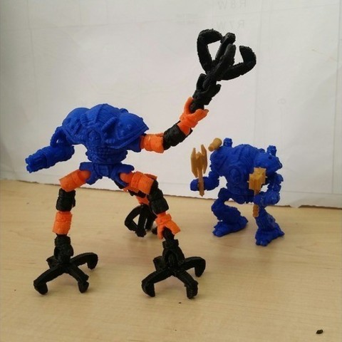 d2b5ca33bd970f64a6301fa75ae2eb22_preview_featured-2.jpg Download free STL file Modular Mech Helbrute Expansion • 3D printing object, mrhers2