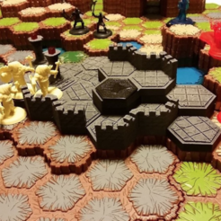 Plan imprimante 3D gatuit Terrain hexagonal, mrhers2