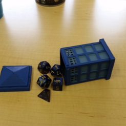 Capture d'écran 2017-12-07 à 14.00.32.png Download free STL file Tardis Dice Holder • 3D printable object, mrhers2
