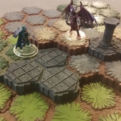 Free 3D printer designs Locking Hex Terrain Stone Path, mrhers2