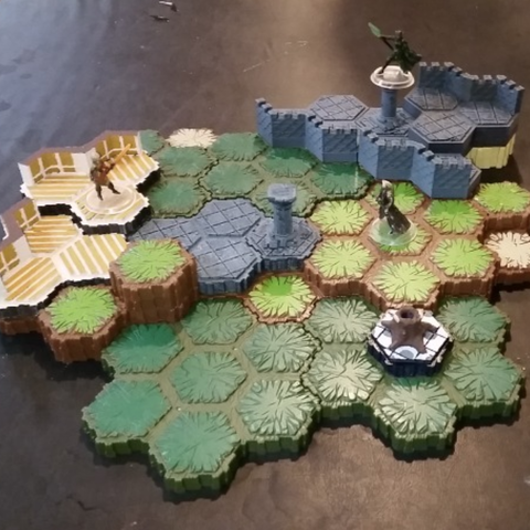 Download free 3D printing models Locking Hex Terrain Wood Floor, mrhers2