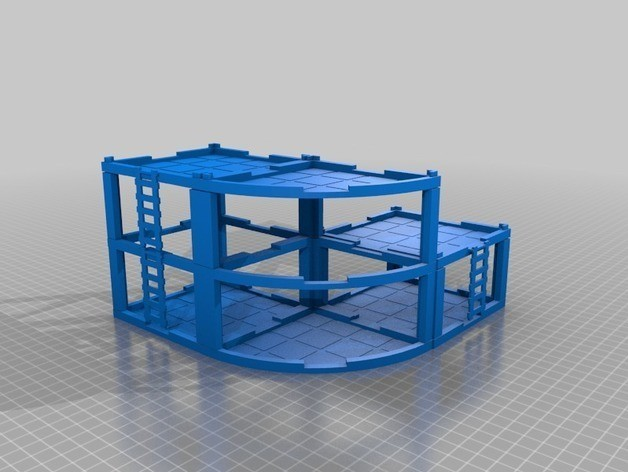 9fab637a0f3c98145ec593f5ac4819dd_preview_featured.jpg Download free STL file Modular Mech Buildings • 3D printable object, mrhers2