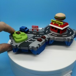 DSC_0915.JPG Download free STL file Little Cities - Burger Drive Through • Template to 3D print, neil3dprints