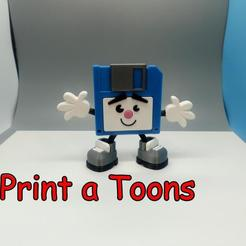 Floppy.jpg Download STL file Floppy Fred - Print a Toons • 3D printing object, neil3dprints