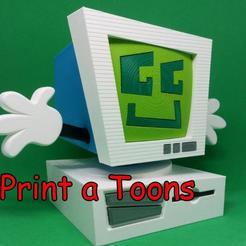 Derek.jpg Download STL file Desktop Derek - Print A Toons • 3D printing design, neil3dprints