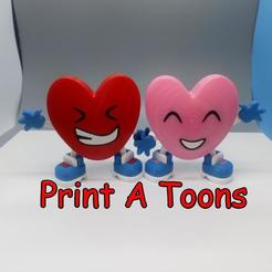 Snapshot5.jpg Download STL file Larry and Lisa the love hearts - Print A Toons • 3D printing model, neil3dprints