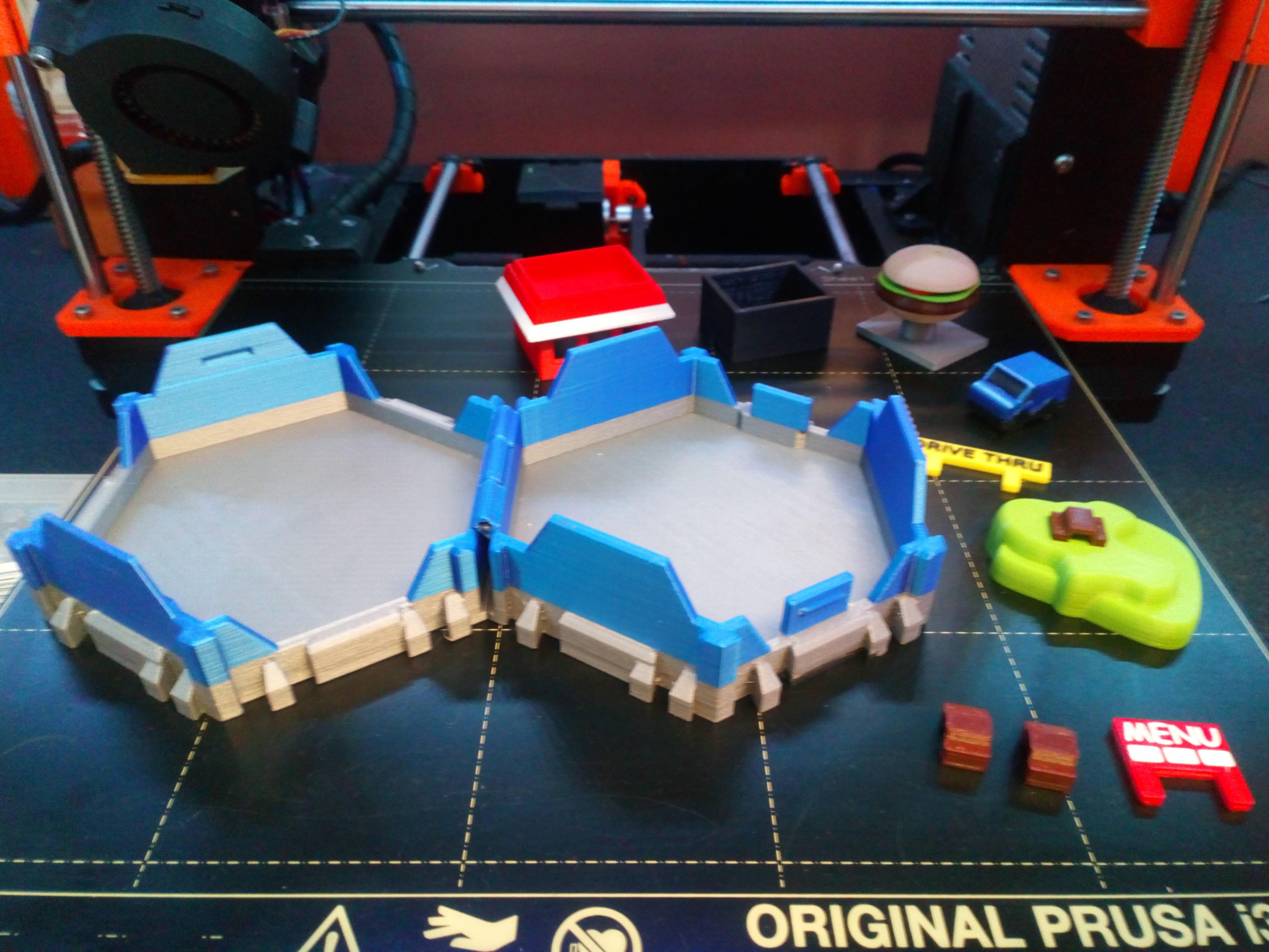 DSC_0911.JPG Download free STL file Little Cities - Burger Drive Through • Template to 3D print, neil3dprints