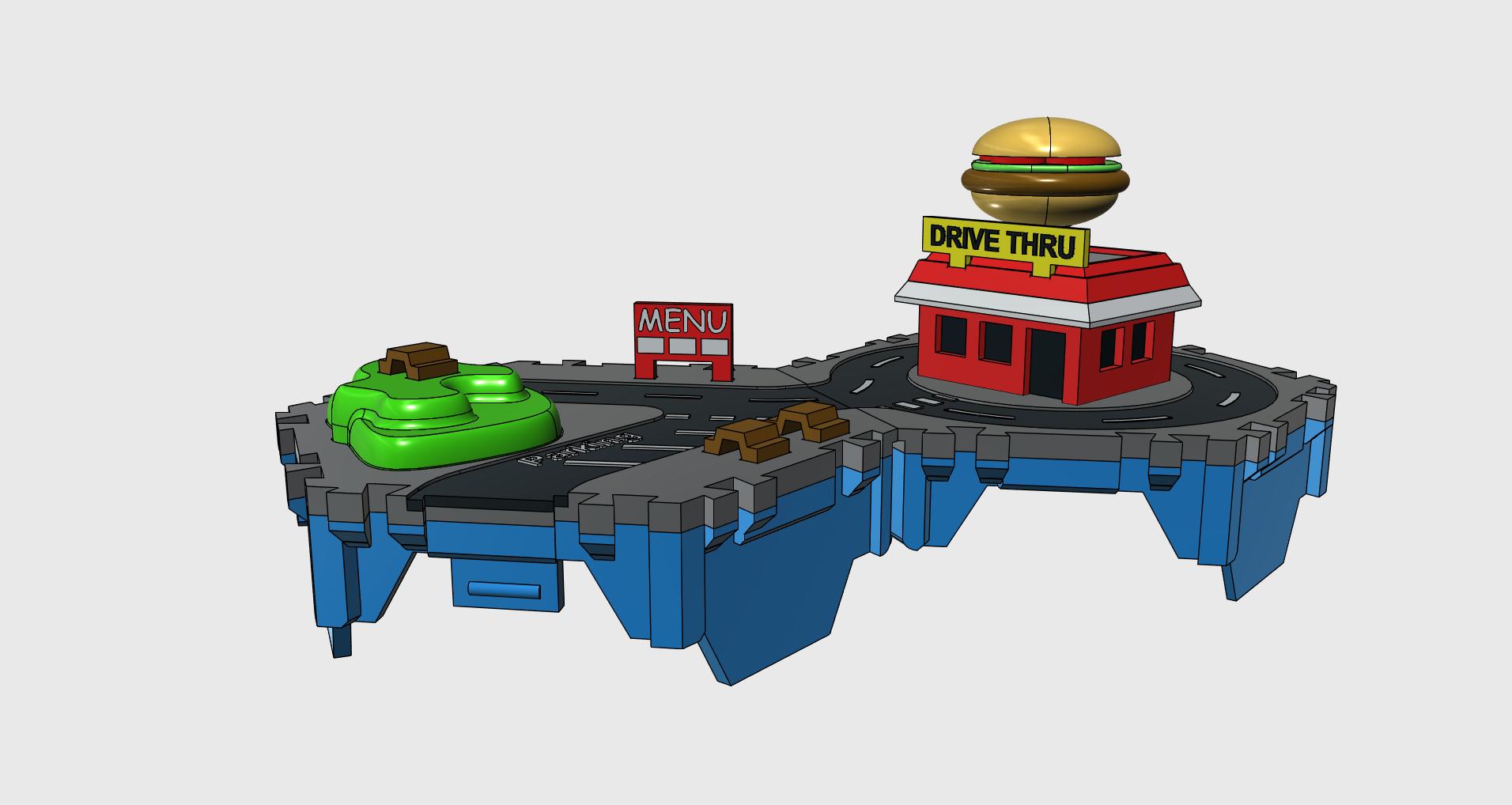 5.png Télécharger fichier STL gratuit Petites villes - Burger Drive Through • Objet pour impression 3D, neil3dprints