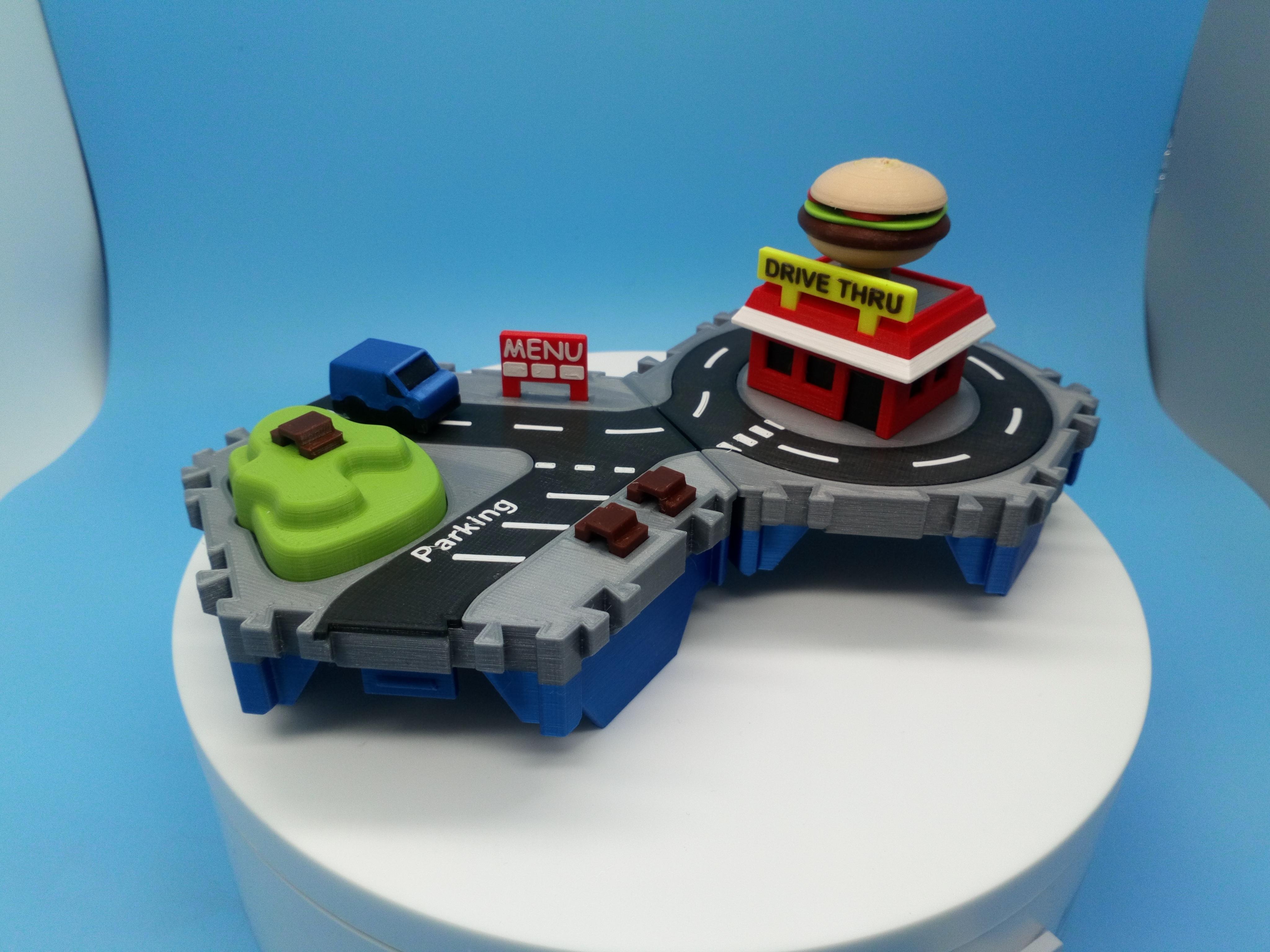 DSC_0914.JPG Télécharger fichier STL gratuit Petites villes - Burger Drive Through • Objet pour impression 3D, neil3dprints