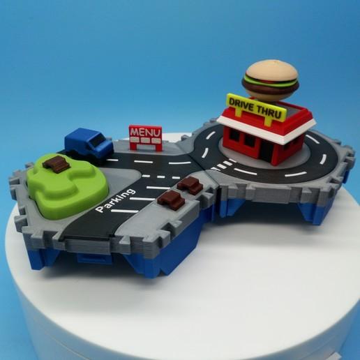 DSC_0914.JPG Download free STL file Little Cities - Burger Drive Through • Template to 3D print, neil3dprints