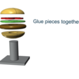 1.png Download free STL file Little Cities - Burger Drive Through • Template to 3D print, neil3dprints
