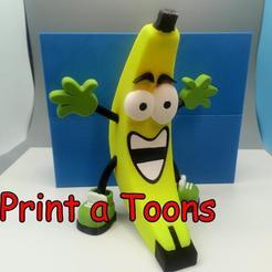 Berniebanana.jpg Download STL file Bernie Banana - Print A Toons • 3D print model, neil3dprints