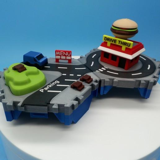 DSC_0913.JPG Download free STL file Little Cities - Burger Drive Through • Template to 3D print, neil3dprints