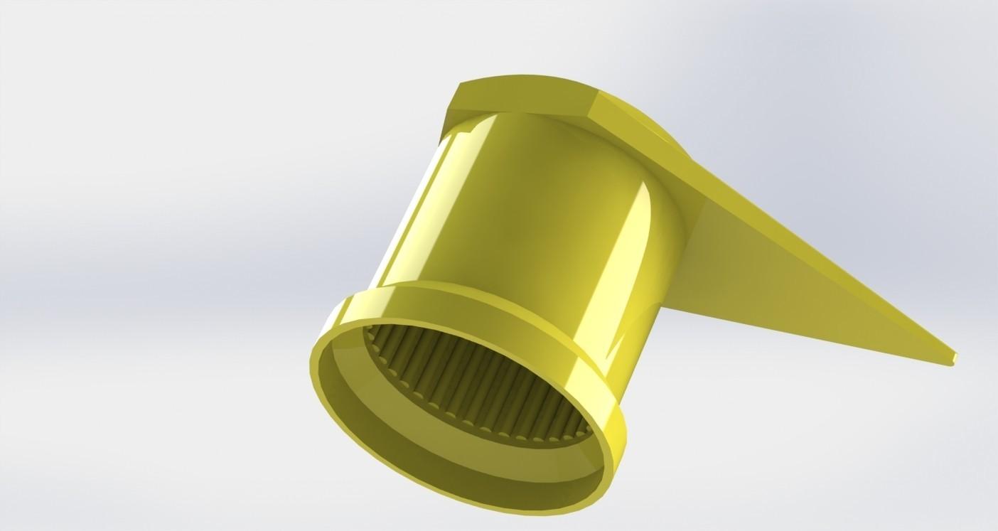 protecao roda camiao 2.JPG Download STL file wheel bolt indicator • 3D printing design, Paulocnc