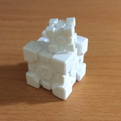 IMG_E3366.JPG Download free STL file Companion Cube • 3D printing design, Kurtis