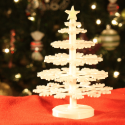 Download free 3D printing designs Desktop Christmas Tree with LED star, GadgetsThatGo
