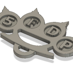 Download free 3D printing files Five finger death punch logo keychain, 3DMARKED