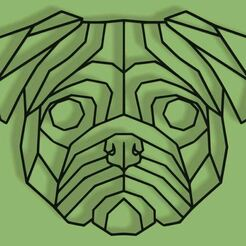 Capture.JPG Download STL file LOWPOLY GEOMETRIC PUG HEAD WALL DECORATION  • 3D printing design, 3DMARKED