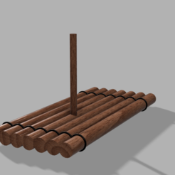 Download 3D printer files WOODEN RAFT DIORAMA, 3DMARKED