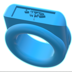 2pac signature 3d printable ring 3D printer file, AndreiMarcu