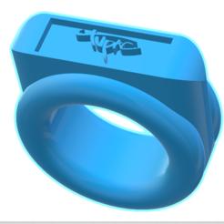 3d model 2pac signature 3d printable ring, AndreiMarcu