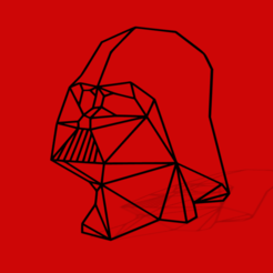 Download 3D printing files LOW POLY GEOMETRIC DARTH VADER WALL DECORATION, AndreiMarcu