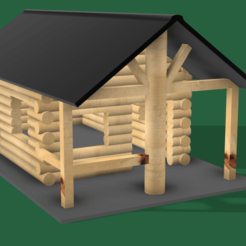 Download STL files WOOD CABIN DIORAMA, 3DMARKED