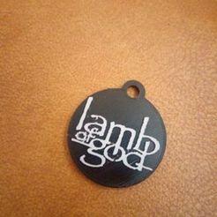 Download STL file Lamb of God Keychain, 3DMARKED