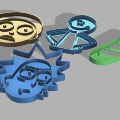 Download 3D model Rick&Morty cookie cutter SET1(MORTY,PICKLERICK,RICK,MEESEEKS), 3DMARKED