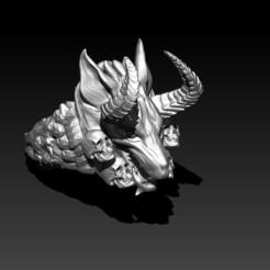 Descargar archivos STL Anillo lobo Infernal, Kraken1983