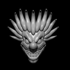 mascara joker 2.jpg Download STL file Decorative clown mask Terror • Object to 3D print, Kraken1983