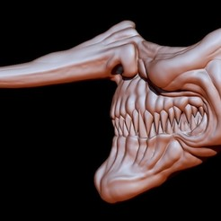 Mascara Payaso 02 Nariz Larga por VRM.jpg Download STL file mask Clown 2 • 3D printing object, Kraken1983