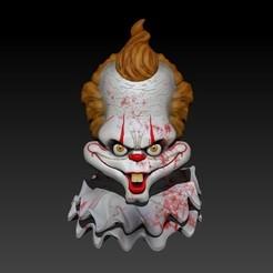 Imprimir en 3D Busto Payaso Pennywise, Kraken1983