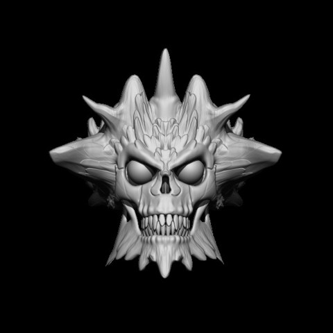 BPR_Render1.jpg Download STL file Demon Skull Ring • 3D printer design, Kraken1983