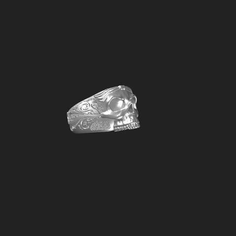 3D file Skull ring, Kraken1983