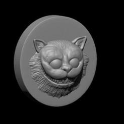 gato Alicia En EL Pais De Las Maravillas molde la figura por VRM.jpg Download STL file Cheshire Mold The Cat Alice • 3D printing model, Kraken1983
