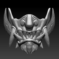 samurai mask 1f.jpg Télécharger fichier STL Masque de samouraï • Objet à imprimer en 3D, Kraken1983