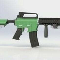 32280A3C-6ECD-4747-957E-E037BE9B40D2.jpeg Download STL file Airsoft Assault rifle • 3D print object, Kraken1983
