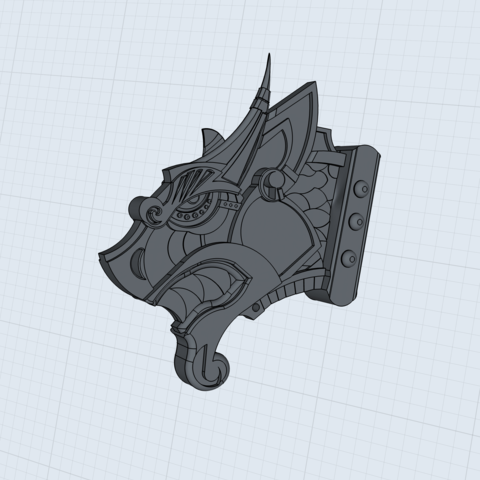 BED6CB04-33FE-4775-BB9A-183D56F4195B.png Download STL file Viking Dragon Head • 3D printable template, Kraken1983