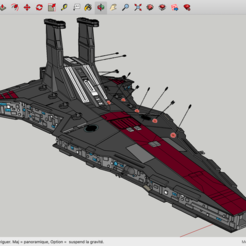 Modelos 3D gratis La Guerra de las Galaxias de la Nave Espacial, Max73D