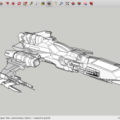 Free 3D printer designs W-B-39 SpaceShip, Max73D