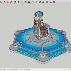Impresiones 3D gratis Antiguo Presidente de Control Stargate Atlantis, Max73D