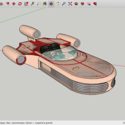 Modelos 3D para imprimir gratis La Guerra de las Galaxias de Landspeeder, Max73D