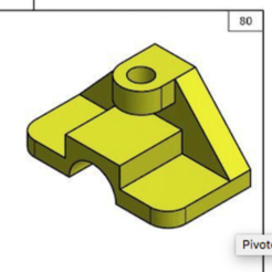 Free 3D printer files Yellow piece with a rib, Max73D