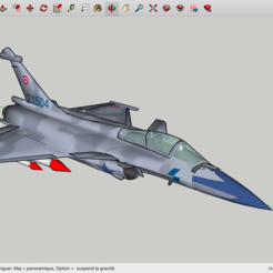 Free 3D printer designs Rafale C Dassault, Max73D